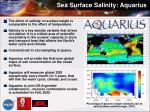 sea surface salinity aquarius