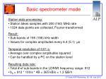 basic spectrometer mode