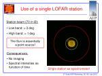 use of a single lofar station