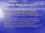 study progress cont