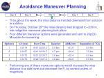 avoidance maneuver planning
