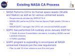 existing nasa ca process