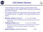 leo safety volumes