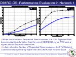 dimro gs performance evaluation in network 1
