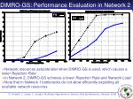 dimro gs performance evaluation in network 2