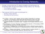 introduction to overlay networks