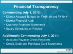 financial transparency1