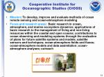 cooperative institute for oceanographic studies cioss