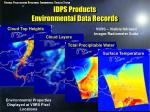 idps products environmental data records