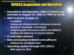 npoess acquisition and operation