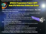 npoess preparatory project npp joint ipo nasa risk reduction demo