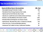 tax incentives for investment