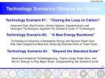 technology scenarios glimpse the future