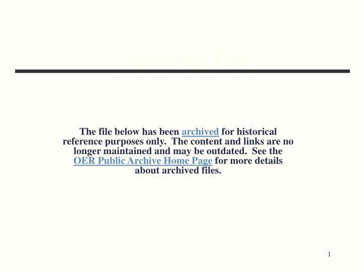 archived file n.