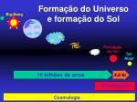 forma o do universo e forma o do sol