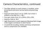 camera characteristics continued