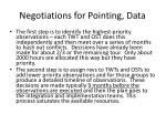 negotiations for pointing data