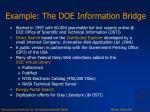 example the doe information bridge