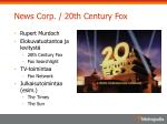 news corp 20th century fox