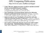 gpu computing publications http www ks uiuc edu research gpu
