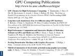 gpu computing publications http www ks uiuc edu research gpu2