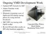 ongoing vmd development work