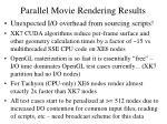 parallel movie rendering results