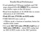 parallel read performance