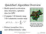 quicksurf algorithm overview