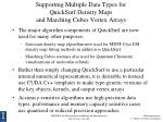 supporting multiple data types for quicksurf density maps and marching cubes vertex arrays