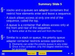 summary slide 5