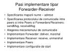 pasi implementare tipar forwarder receiver