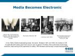 media becomes electronic