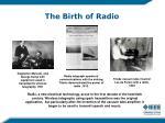the birth of radio