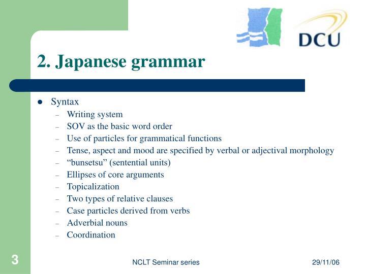 2 japanese grammar