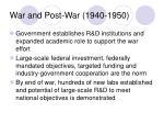 war and post war 1940 1950