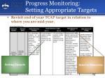 progress monitoring setting appropriate targets1