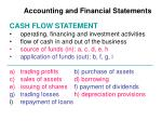 accounting and financial statements1