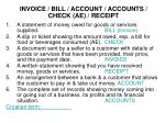 invoice bill account accounts check ae receipt1