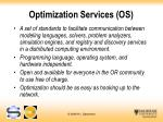 optimization services os