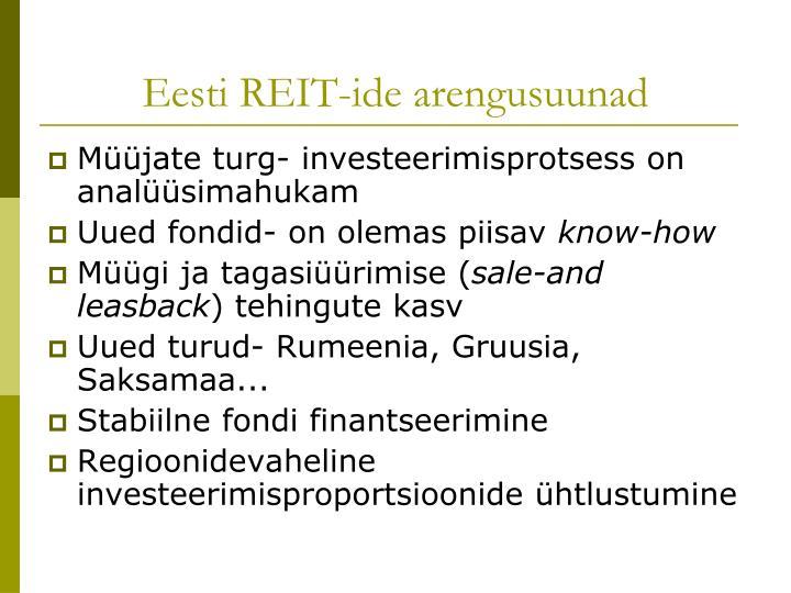 Eesti REIT-ide arengusuunad