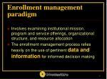 enrollment management paradigm