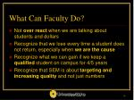what can faculty do