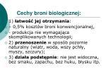 cechy broni biologicznej