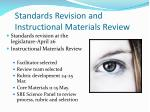standards revision and instructional materials review
