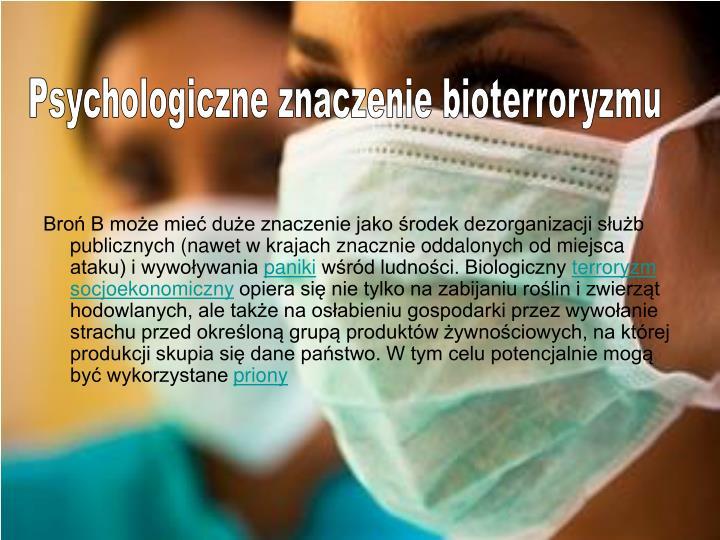 Psychologiczne znaczenie bioterroryzmu