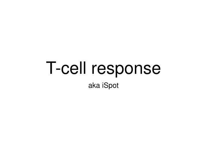 T-cell response