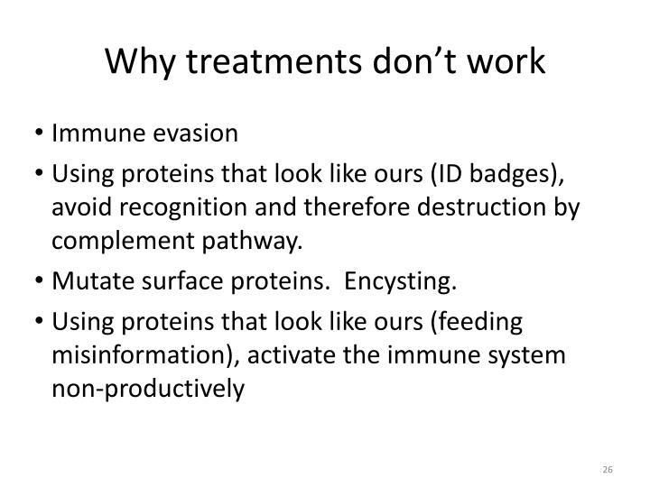 Why treatments don't work