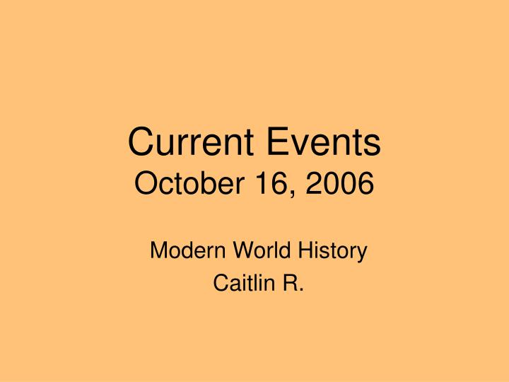 current events october 16 2006 n.