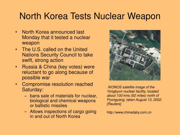 North korea tests nuclear weapon